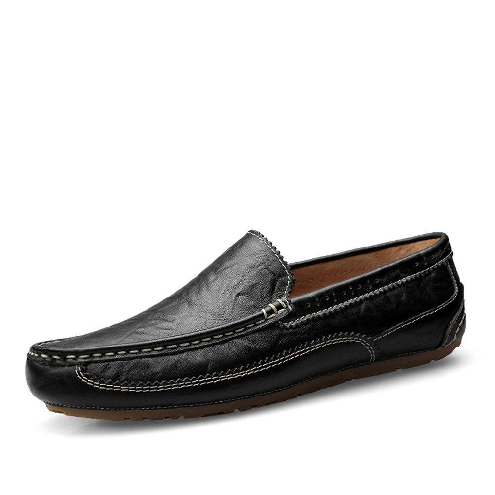 Herren Driving Loafer Oxfords Sohle Mokassins Echtes Carve Leder Slip auf Bullock Carve Echtes Patterns schwarz Hollow Vamp 10ea06
