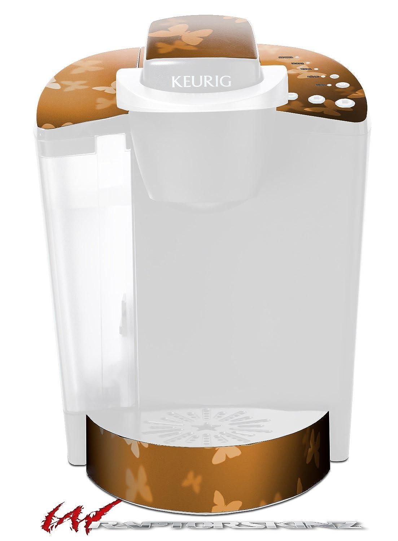 Bokeh Butterfliesオレンジ – デカールスタイルビニールスキンFits Keurig k40 Eliteコーヒーメーカー( Keurig Not Included )   B017AK69CU