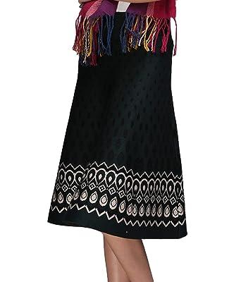 Señoras Falda De Verano Elegante Moda Chicas Vintage Falda Playa ...