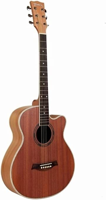 GFEI Guitarra de madera con incrustaciones de color, _102cm panel ...
