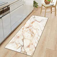 Bath Mat Bathroom Carpet,1 PC Anti-Slip Kitchen Carpet Black White Marble Printed Entrance Doormat Floor Mats Carpets…