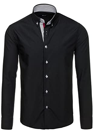 BOLF Herren Freizeithemd Hemd Langarm Slim Fit Classic Casual Kariert 2B2   Amazon.de  Bekleidung 03d4ee33f9