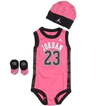innovative design 70e77 61ffd Amazon.com   Stylish Jordan 3pcs Set Bodysuit 0-6 Months   Baby Diaper  Covers   Baby