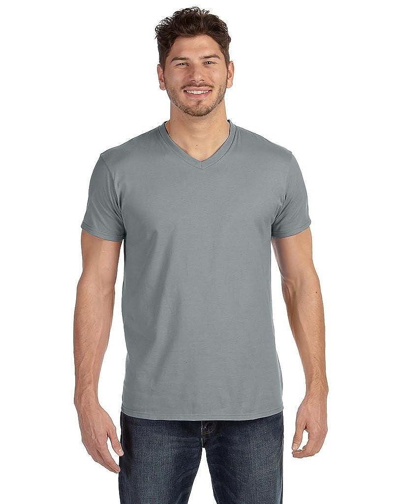 Hanes Mens Nano-T V-Neck T-Shirt 498V