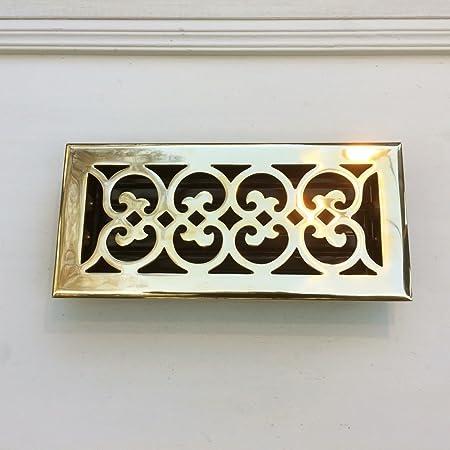 antikas/ /Grille Grille de ventilation dair chaud de chemin/ée pour chemin/ée rond 10,5/cm