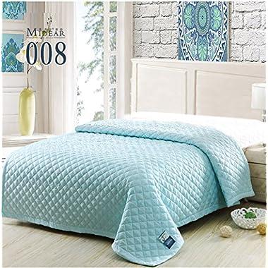 King/queen Size Bedroom Summer Quilts Thin Comforter Silk Floss Light Weight (Queen, Number 008)