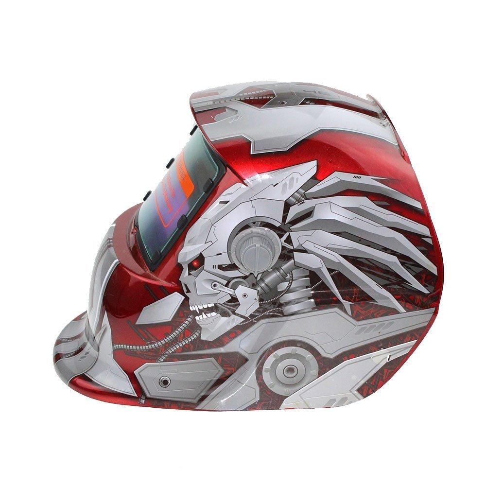 ... de oscurecimiento automático del casco de soldadura accionado solar, para la máscara del soldador del arco de Mig Tig Diseño azul del águila: Amazon.es: ...