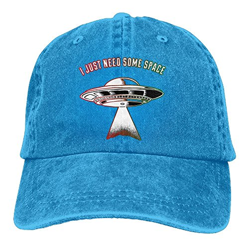 MCWO GRAY Mens/Womens I Just Need Some Space Icon Denim Hat Mesh Hat Cotton Royalblue