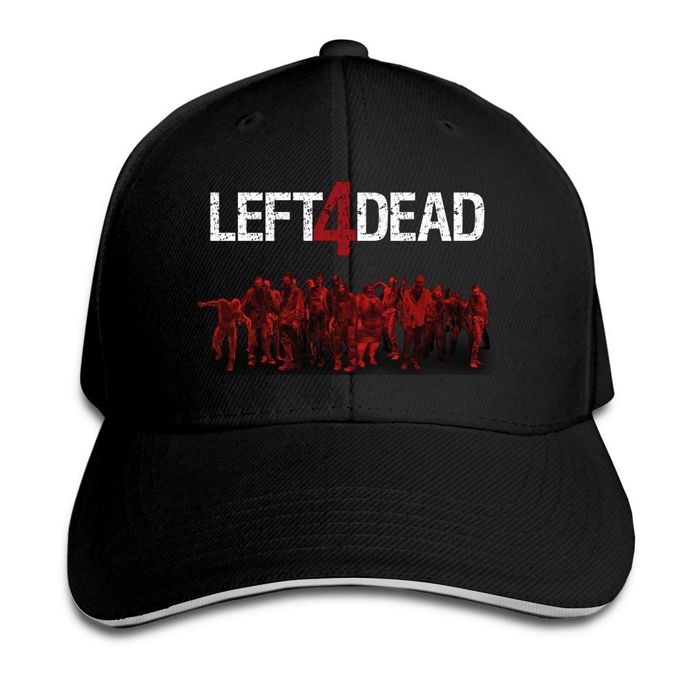 hittings Left 4/ Dead Sandwich Peaked Hat//Cap Black