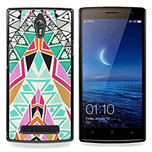 "Planetar ( Patrón Pintura Arte tribal"" ) OPPO Find 7 X9077 X9007 Fundas Cover Cubre Hard Case Cover"
