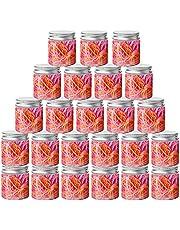 50-pack genomskinliga förvaringsburkar i plast, tomma klara förvaringsburkar i plast breda munbehållare med silvermetalllock, för gör-det-själv slime-tillverkning och kökstillbehör förvaring (80 ml/3 uns)