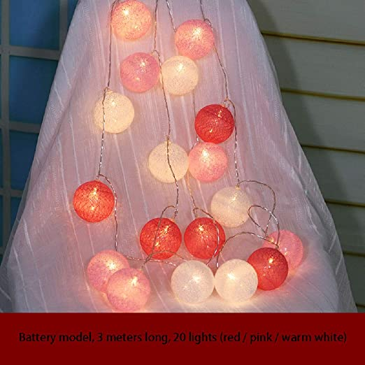 WANGXB Luces Bolas algodón,Guirnalda Luces,Cadena Luces LED LED ...