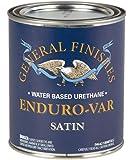 General Finishes Enduro-VAR Water Based Urethane Topcoat, 1 Quart, Satin