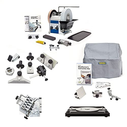 Tormek Sharpening System Ultimate Plus TBP805 T8 A Complete Water Cooled Sharpener with Woodturning Jigs, Hand Tool Jigs, Planer Blade Drill Bit Attachments. Our Most Complete Sharpening System