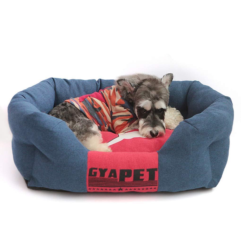 bluee Medium bluee Medium HeiPlaine Pet Sofa Comfortable Pet Dog Bed Dog Sofa Kennel Detachable Washable With Wear And Bite Resistance (color   bluee, Size   Medium)