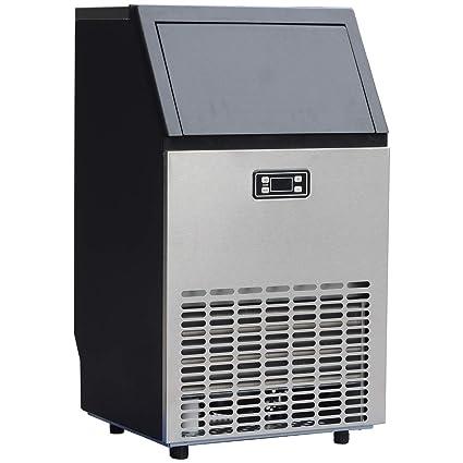 Máquina de hielo comercial de acero inoxidable, máquina de hielo ...