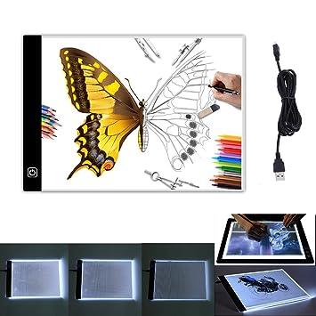 Bloc de luces de dibujo con 3 niveles de brillo, tamaño A4, con caja