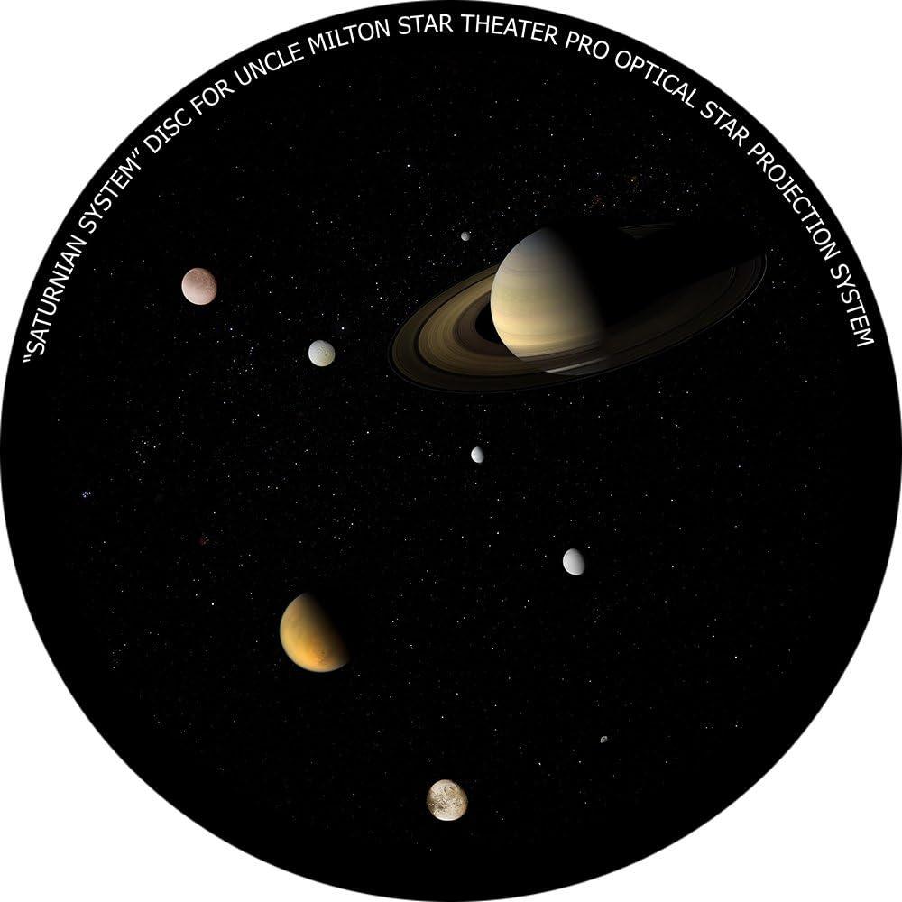 "/""Saturn/"" disc for Uncle Milton Star Theater Pro home planetarium"