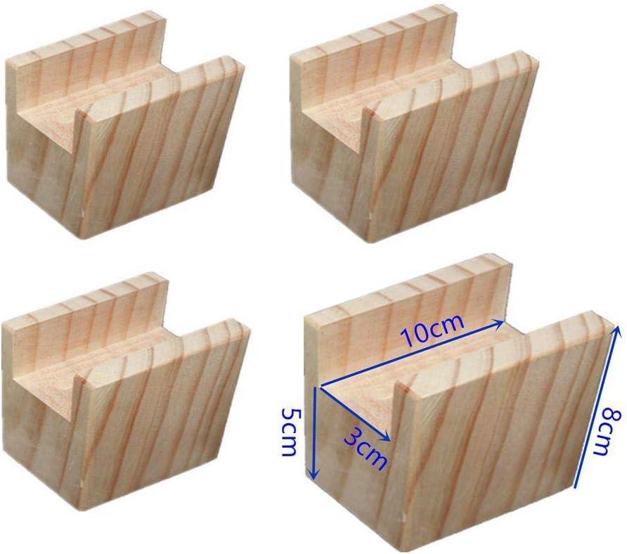 Rassembleurs de lit en bois Duty Elephant Feet Mises en hauteur pour meubles Mobilier de table /él/évatrices pour canap/é-lit Chaises pour jambes Lot de 4