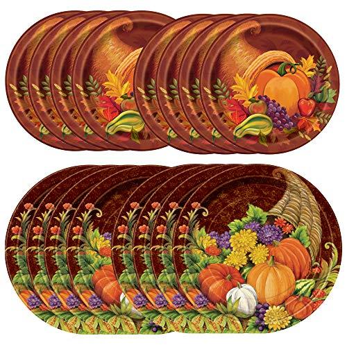 Unique Fall Harvest Tableware Essentials | Dinner & Dessert Plates | Autumn, Fall, Thanksgiving Table Decorations