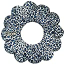 Total Pillow Microbead Portable Pillow - 2017 Exclusive Design - Use at Home or On The Go To Support Your Neck, Back and Knees - Blue Cheetah