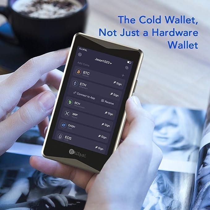 Ellipal Hardware Cartera – Cryptocurrency Cold Wallet Titan, Multimoneda, Anti-desmontaje y manipulación, Soporte de Token, Seguridad a Distancia de ...