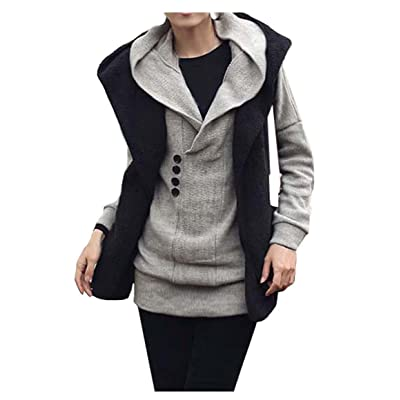 CA Fashion Women's Long Top Hoodie Kint Sweater Knitwear Hooded