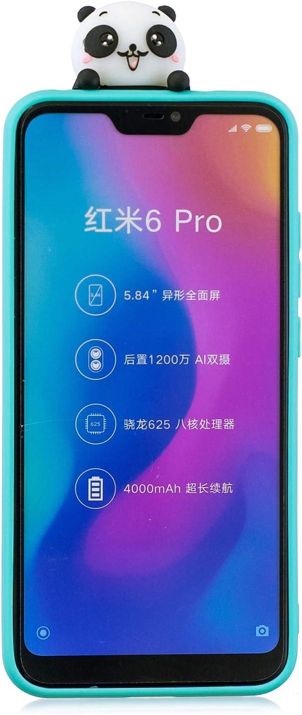 HopMore Silicona Funda para Xiaomi Mi A2 Lite Dibujo 3D Unicornio ...