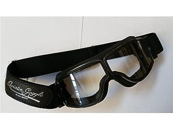 377d28f6fa5 Aviator Goggle Lunettes Moto Aviator Masque T2 Gunmetal Noir Transparent