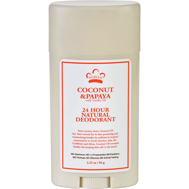 Coconut & Papaya Deodorant, 2.25 Oz by Nubian Heritage UNFI - Select Nutrition