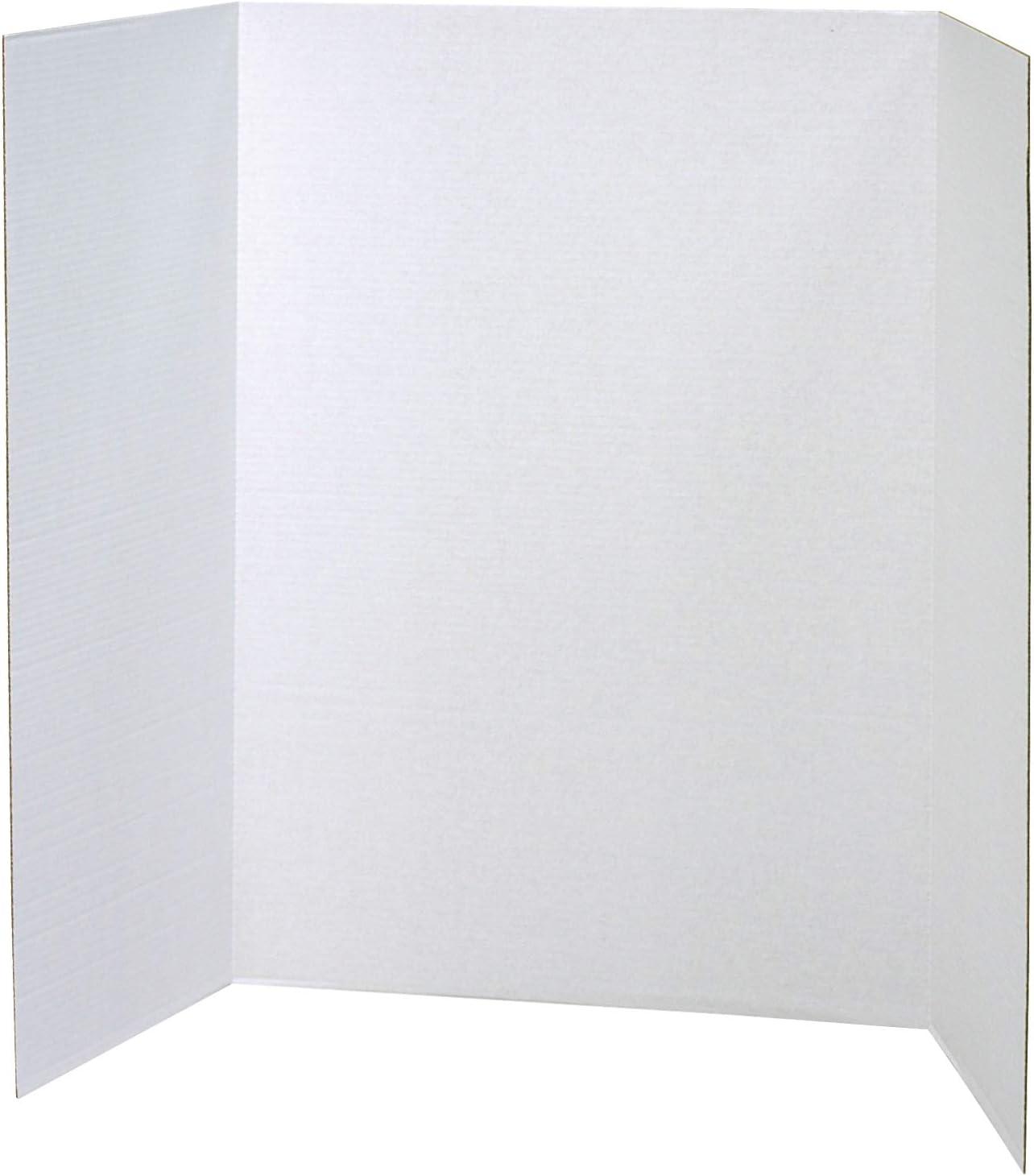 "Pacon Presentation Board, White, Single Wall, 48"" x 36"", 4 Boards : Presentation And Display Boards : Office Products"