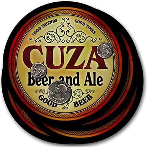 Cuza Beer & Ale - 4 pack Drink Coasters