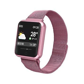 Sallydream Reloj Inteligente, Mujeres Hombres Smartwatch Pulsera ...
