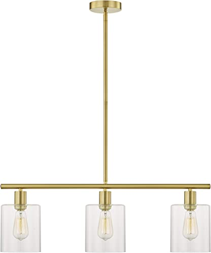 Amazon Com Leezm Rustic Industrial Chandeliers Modern 3 Light Glass Shades Pendant Lighting Vintage Farmhouse Adjustable Wire Ceiling Light Hanging Lamp For Dining Rooms Bedrooms Living Room Kitchen Island Gold Home Improvement