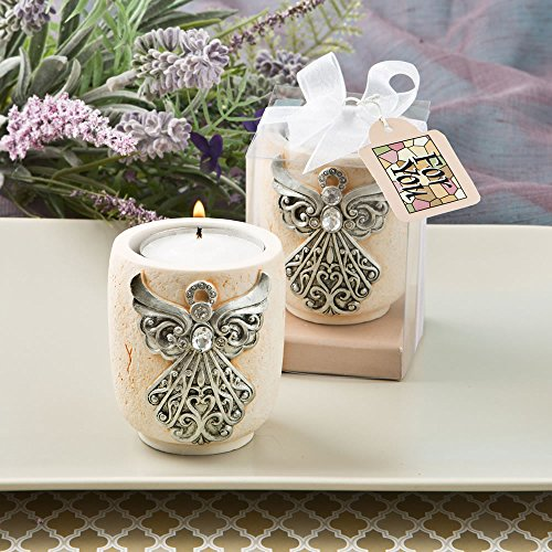 Exquisite Angel Design Candle Tea Light Holders , (1st Communion Favors)