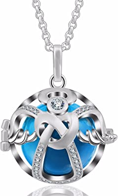 Bell Ball Cage Harmony Pregnancy Baby Angel Caller Pendant Chain Necklace-am