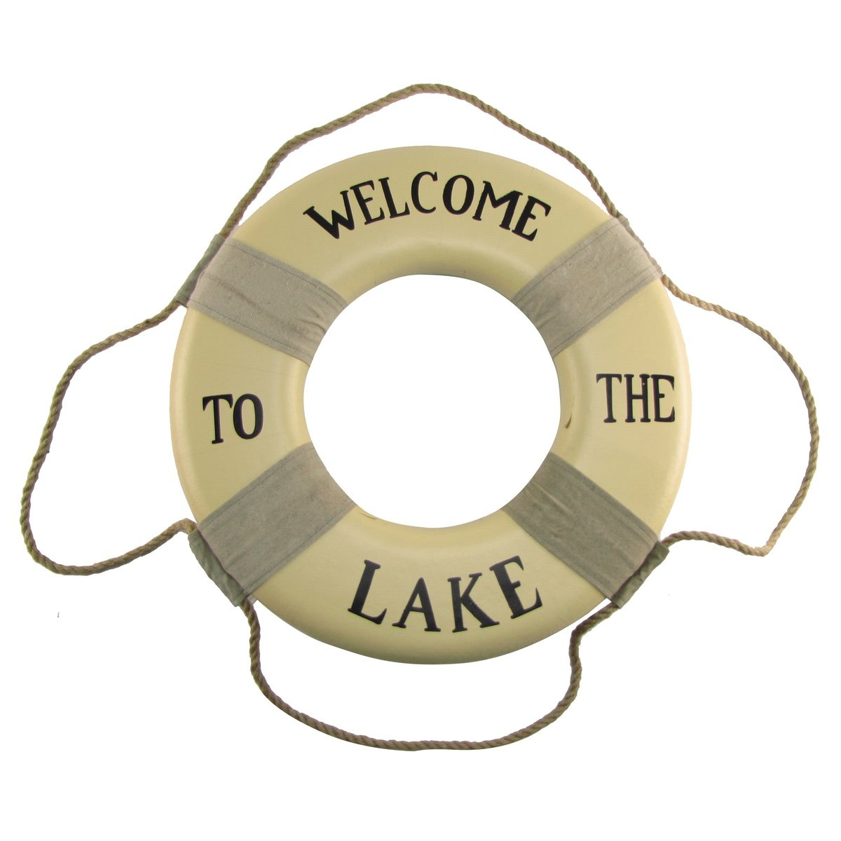 Welcome aboard boat ships life ring clock - Amazon Com Welcome To The Lake Life Preserver Saver Ring Sign Cabin Lodge Home Wall Decor Home Kitchen