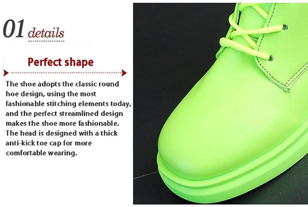 YCKZZR Chaussures à Lacets Bottes Chevalier épais avec Martin Bottes Femmes Chaussures de démarrage Femme Joker Mode marée Chaussures Nouvel Automne Pink