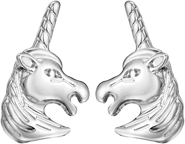 925 Sterling Silver 3D Horse Stallion Mustang Charm