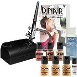 The Original: Dinair Airbrush Makeup Starter Kit   Medium Shades   Foundation Set!