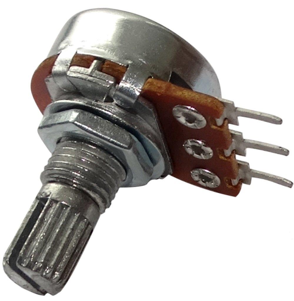 AERZETIX: 10 x Potenció metro rotativo mono logaritmico 5k? 63mW PCB eje moleteada 6mm 9mm Ø 17x9.2mm 150V C15020 SK2-C15020-AF499 x10