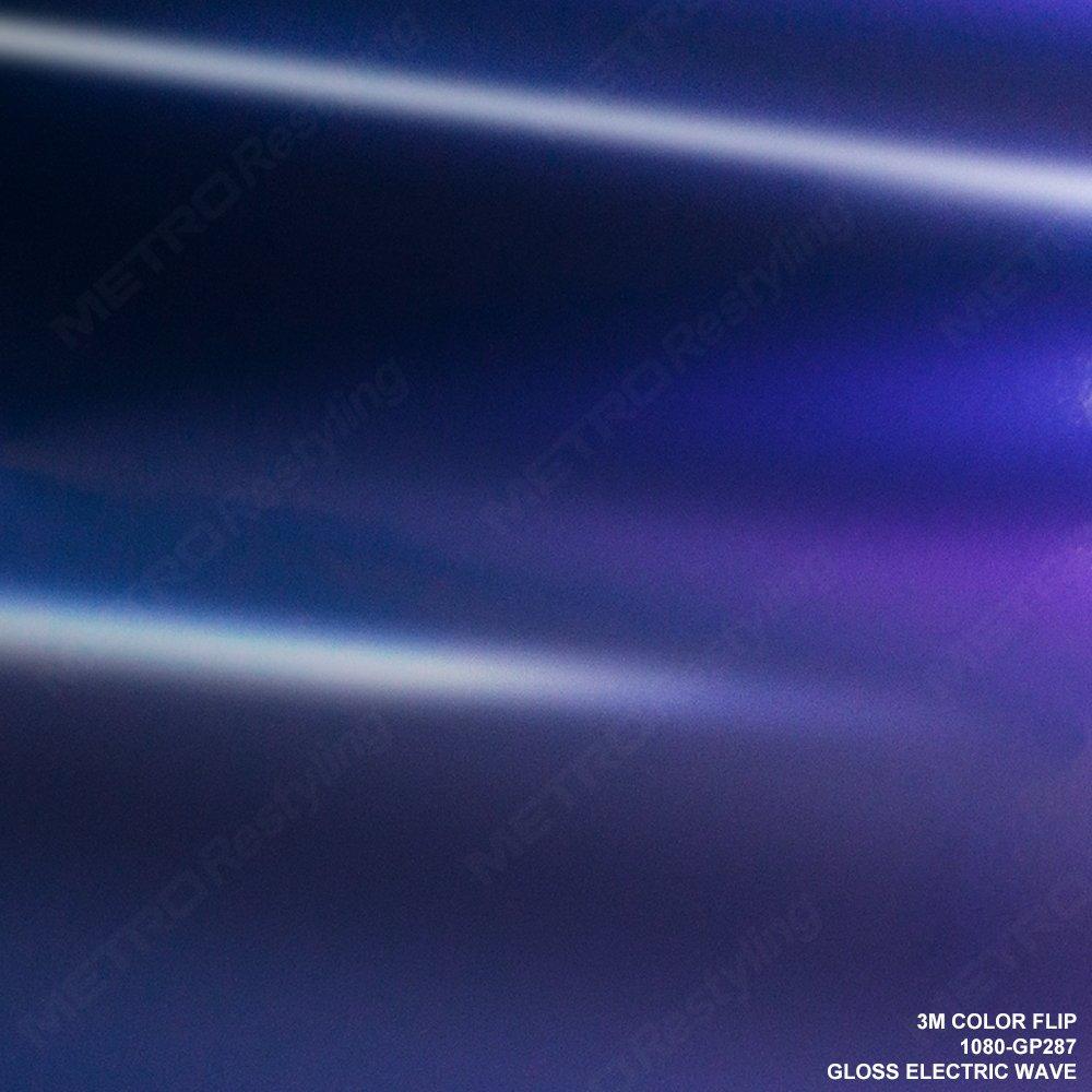 3M 1080 GP287 GLOSS FLIP ELECTRIC WAVE 5ft x 50ft (250 Sq/ft) Car Wrap Vinyl Film
