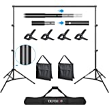 10FT Backdrop Stand Heavy Duty Photo Video Studio Background Support System DERSECO Adjustable Backdrop Kit with Carry Bag,Sa