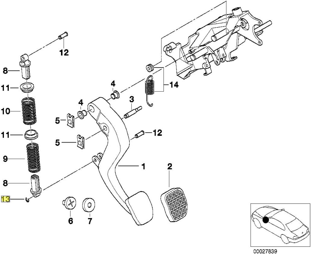 BMW 6 mm Shaft Lock Circlip E-Clip 9932842 07119932842