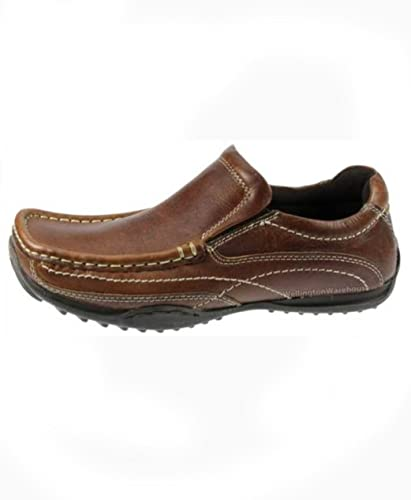 a9c2fd1331f5 Red Tape Tilmore Brown leather slip on boys mens shoes UK 7-11   Amazon.co.uk  Shoes   Bags