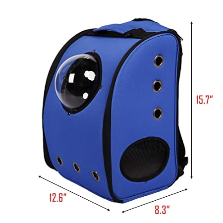 Livebest Portable Pet Carrier Breathable Bubble Backpack Dog Cat Innovative Traveler with Semi-Sphere Window and Ventilation Holes for Outdoor Hiking