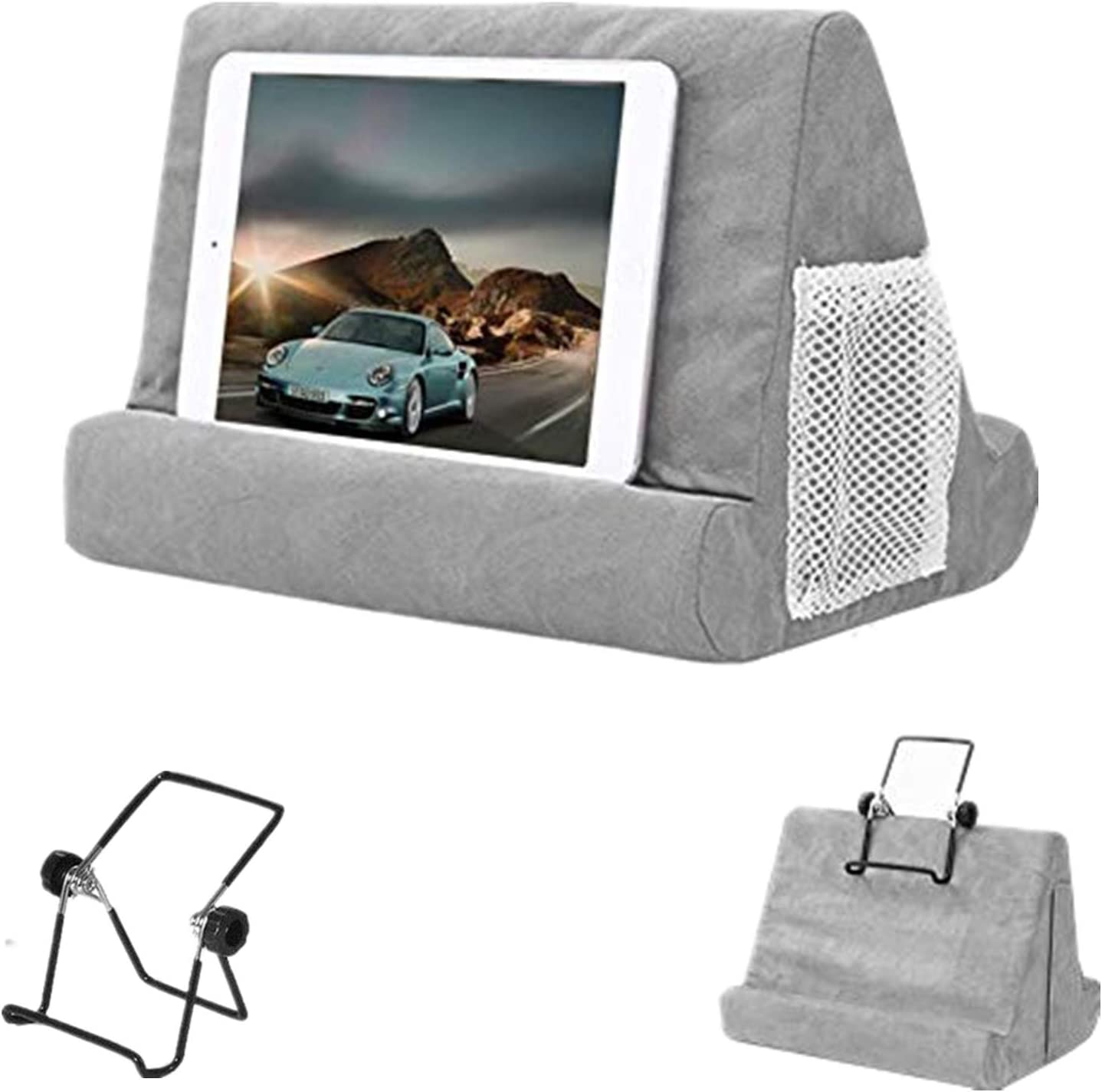 Tablet Soft Pillow Stand for iPads Multi-Angle Lap Stand Mobile Phone Holder for iPad, eReaders, Smartphones, Books, Magazines