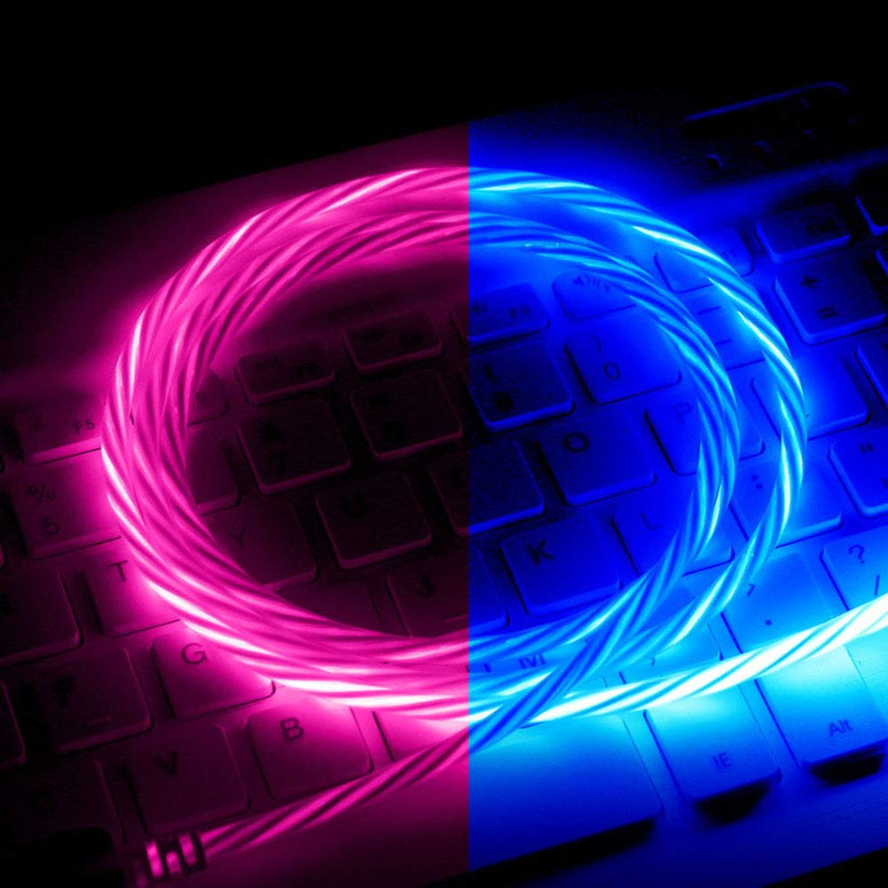 Milnnare C/âble de Donn/ées /à LED Lumineux USB Type C pour iPhone Samsung Xiaomi Huawei Rose pour iPhone #