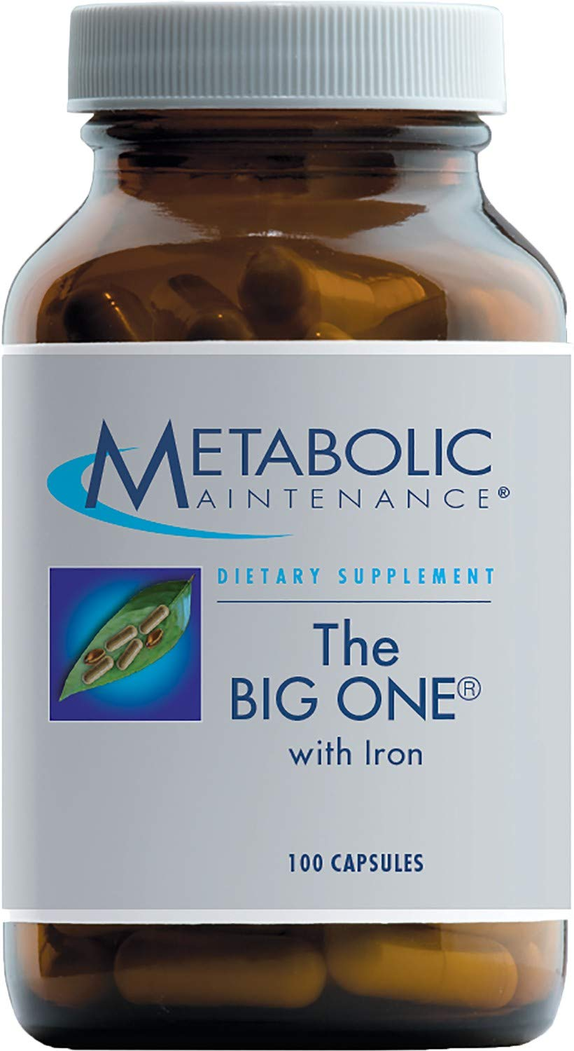 Metabolic Maintenance The Big One - Multivitamin with Iron, Active Folate + Vitamin K (100 Capsules)