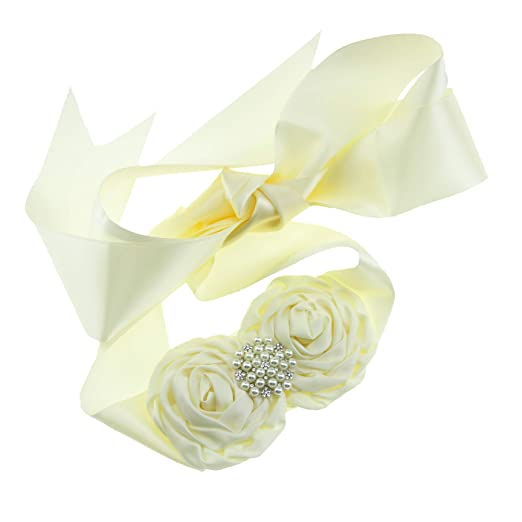 75df0a2b88 Amazon.com: Lovemyangel Girl Flower Sash Maternity Sash Bridesmaid ...